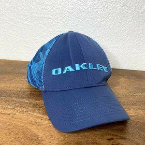 Oakley Snapback Hat Mesh Blue Camo One Size